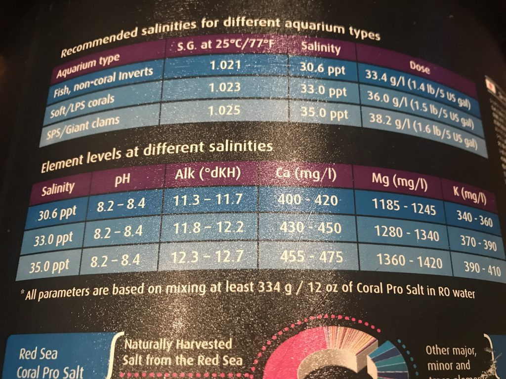 人工海水パラメータ